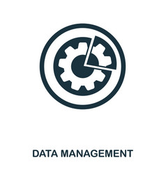 data management icon line style icon design ui vector image