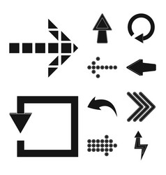 design of element and arrow logo vector image