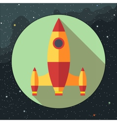 Digital with space rocket icon vector image