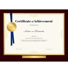 Elegant certificate of achievement template vector