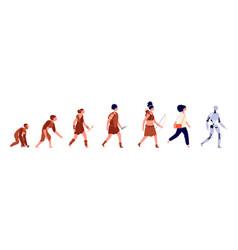 Evolution woman human growth cartoon business vector