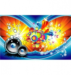 fantasy music background vector image