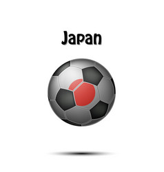 flag of japan in the form of a soccer ball vector image