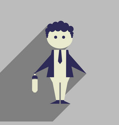 Flat web icon with long shadow businessman vector