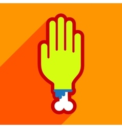 Flat with shadow icon and mobile application hand vector