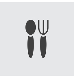 Fork and spoon icon vector image