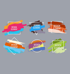 Frame for text modern art graphics vector