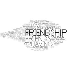 Friendship word cloud concept vector