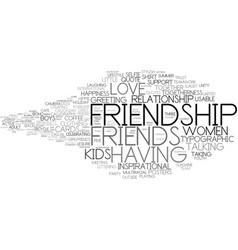 Friendship word cloud concept vector