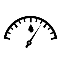 Fuel quantity indicator icon vector image