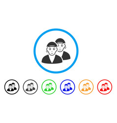 Gay dudes rounded icon vector