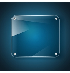 glass background blue vector image