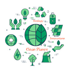 green planet concept of future innovations vector image