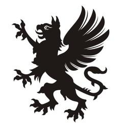 Griffin heraldic tattoo vector