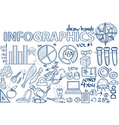 hand draw infographics vol 4 science vector image