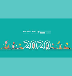 Happy 2020 new year people group young online vector