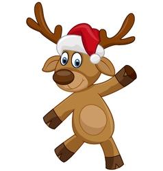 Happy Christmas cartoon deer vector