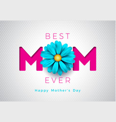 happy mothers day greeting card with vector image