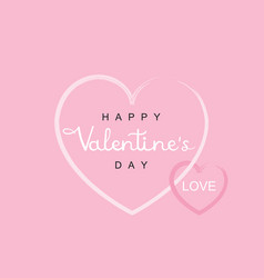 Happy valentines day handwriting lettering vector