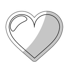 Heart love romantic outline vector