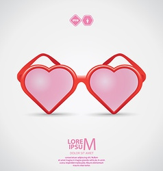 Heart sunglasses vector