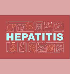 Hepatitis word concepts banner vector