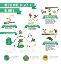 Hunting Infographics Set vector image