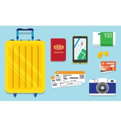 Icons set of traveling vector image vector image