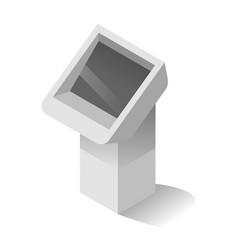 Information digital stand vector