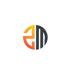 Initial letter zm creative design logo vector