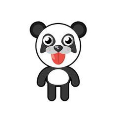 Kawaii panda animal toy vector