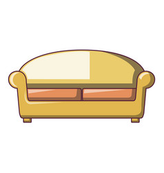 knole sofa icon cartoon style vector image