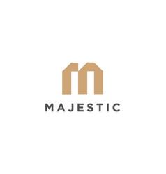 Letter m minimalist logo design vector