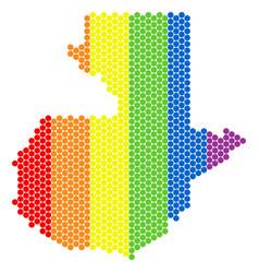 lgbt spectrum pixel guatemala map vector image