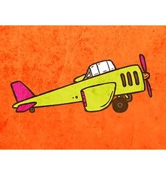 Light Aircraft Cartoon vector image
