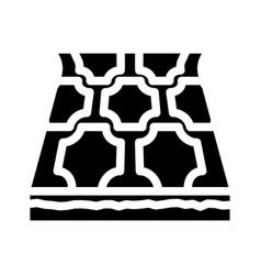 Linoleum layer floor glyph icon vector