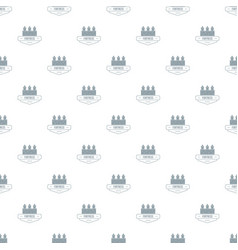 Luxury fortress pattern seamless vector