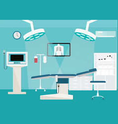 medical hospital surgery operation room vector image