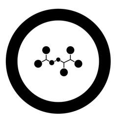 molecule icon black color in circle vector image