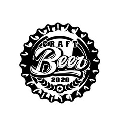 monochrome with metal caps for beer vector image