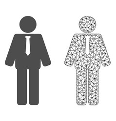 Network mesh groom and flat icon vector