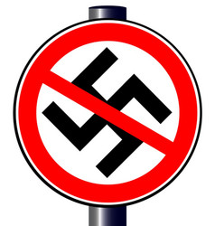 No nazi street sign vector