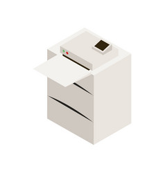 Office laser printer vector