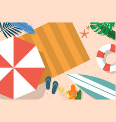 organic flat summer background for videocalls vector image