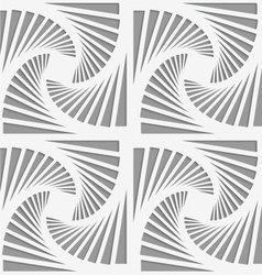 Perforated striped rotated triangular shapes vector