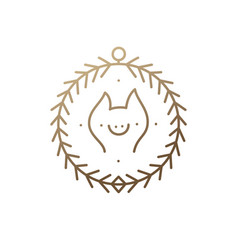 pig icon frame vector image