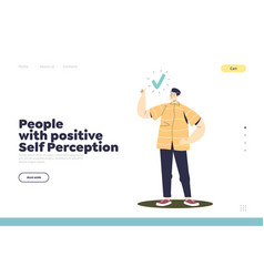 Positive self perception and love yourself concept vector