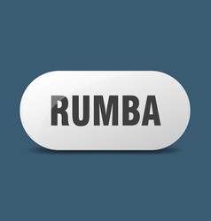 Rumba button sticker banner rounded glass sign vector