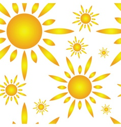 Seamless pattern with sun vector