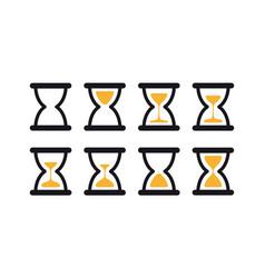set hourglass sprites vector image
